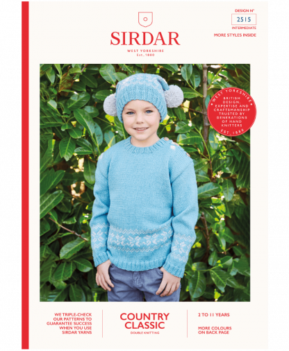 Sirdar 2515 Sweater and Hat in Country Classic DK