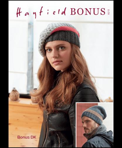 Sirdar 8213 Hats in Hayfield Bonus DK