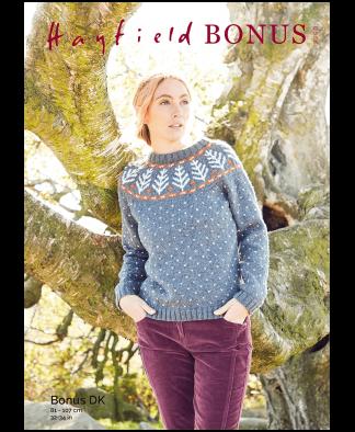 Sirdar 8290 Sweater in Hayfield Bonus DK