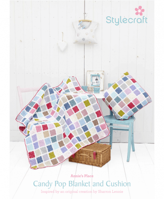 Stylecraft Special DK Candy Pop Blanket and Cushion Cover Colour Pack