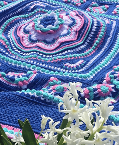 Pippin Poppycock - Floralia Blanket CAL - Evelyn Colourway - Stylecraft Special DK
