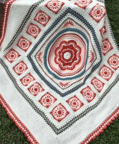 Pippin Poppycock - Floralia Blanket CAL - Lillian Colourway - Stylecraft Special DK