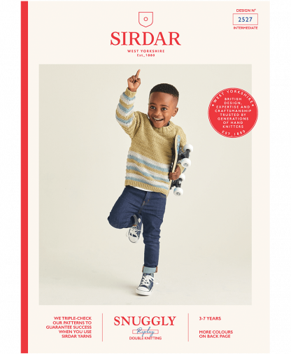 Sirdar 2527 Boys Crew Neck Jumper in Snuggly Replay