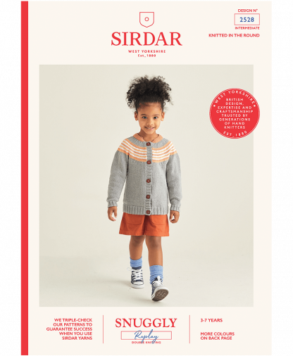 Sirdar 2528 Girls Cardigan in Snuggly Replay