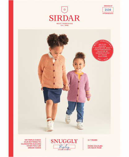 Sirdar 2530 Girls Cardigans in Snuggly Replay
