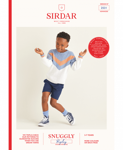 Sirdar 2531 Boys Sweater in Snuggly Replay