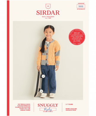 Sirdar 2532 Girls Cardigan in Snuggly Replay