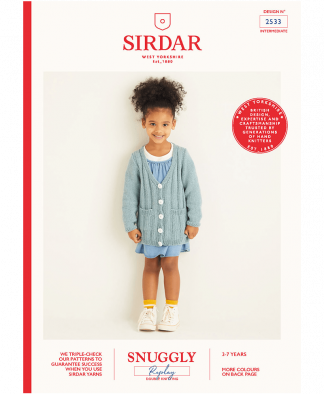 Sirdar 2533 Girls Cardigan in Snuggly Replay