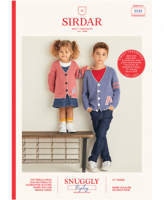 Sirdar 2535 Cardigans in Snuggly Replay