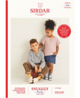 Sirdar 2536 Long and Short Sleeved Sweaters in Snuggly Replay