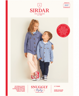 Sirdar 2537 Childrens Crew Neck Jumper in Snuggly Replay