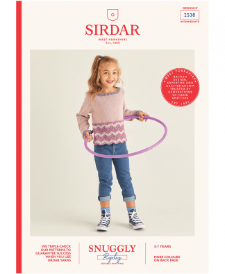 Sirdar 2538 Girls Sweater in Snuggly Replay
