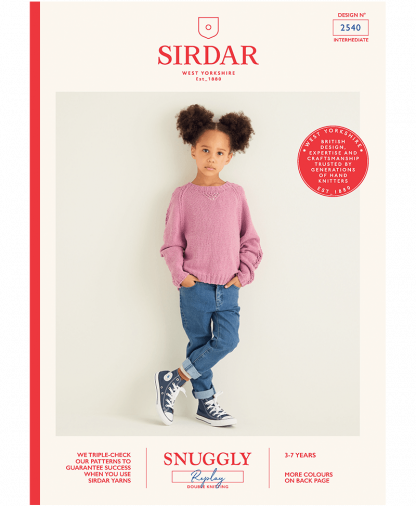 Sirdar 2540 Girls Sweater in Snuggly Replay