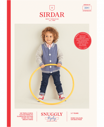 Sirdar 2541 Boys Jacket in Snuggly Replay