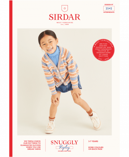 Sirdar 2542 Girls Cardigan in Sirdar Snuggly Replay