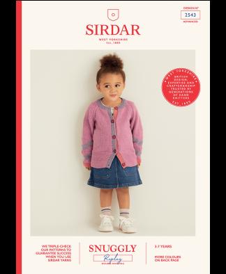 Sirdar 2543 Girls Cardigan in Snuggly Replay