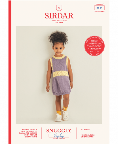 Sirdar 2544 Girls Dress in Snuggly Replay
