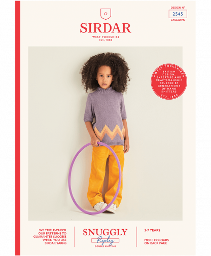 Sirdar 2545 Girls Sweater in Snuggly Replay