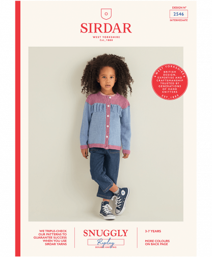 Sirdar 2546 Girls Tassel Cardigan in Snuggly Replay