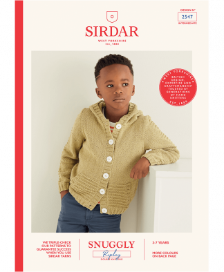 Sirdar 2547 Boys Hooded Jacket in Snuggly Replay