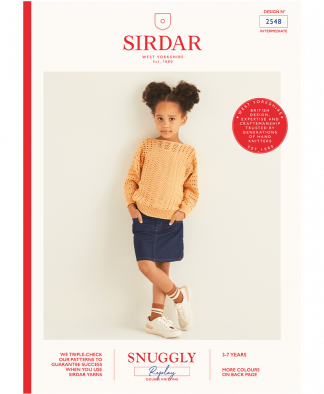 Sirdar 2548 Girls Sweater in Snuggly Replay