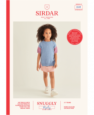 Sirdar 2549 Girls Tunic in Snuggly Replay
