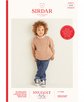 Sirdar 2550 Boys Sweater in Sirdar Snuggly Replay