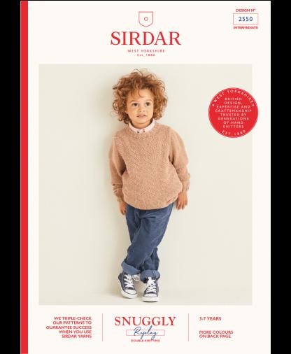 Sirdar 2550 Boys Sweater in Sirdar Snuggly Replay