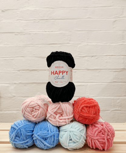 Sirdar Happy Chenille - Mermaid - Simply Crochet issue 97 - yarn pack