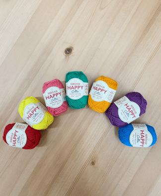 Sirdar Happy Cotton DK Rainbow Colour Pack