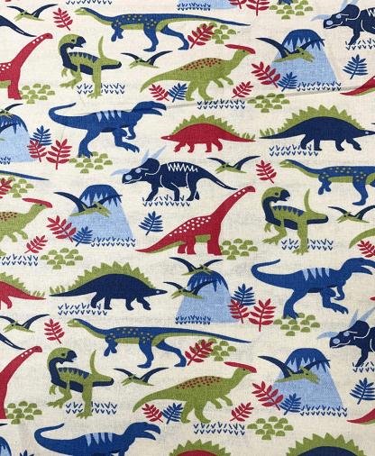 Craft Cotton Co - Dinosaur Land - Multi (2528-01)