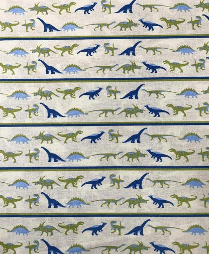 Craft Cotton Co - Dinosaur Land - Stripes (2528-02)