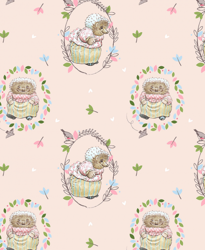 Craft Cotton Co - Peter Rabbit Fabric Collection - Tiggywinkle (2565-05)