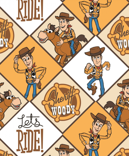 The Craft Cotton Co - Disney Toy Story Fabric - Sheriff Woody (85410301VS)