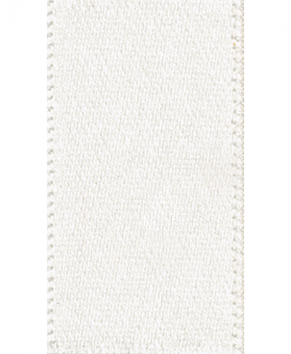 Berisfords Newlife Satin Ribbon - 7mm - Bridal White (419)