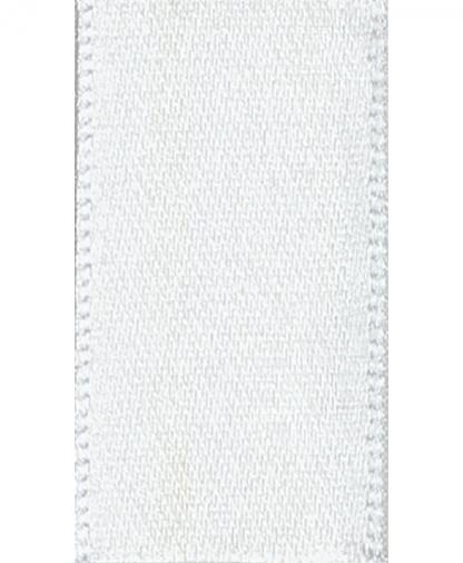 Berisfords Newlife Satin Ribbon - 7mm - White (1)