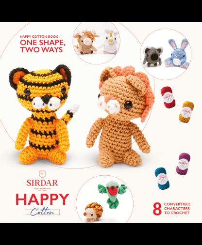 Sirdar Happy Cotton Amigurumi One Shape, Two Ways - Book 1
