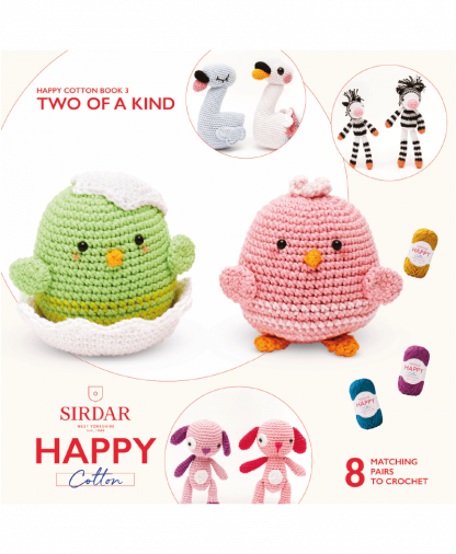 Sirdar Happy Cotton Amigurumi Two of a Kind - Book 3