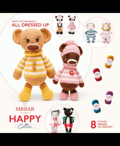 Sirdar Happy Cotton Amigurumi All Dressed Up - Book 6