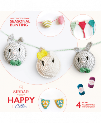 Sirdar Happy Cotton Amigurumi Seasonal Bunting - Book 7