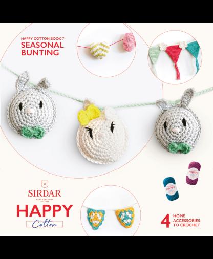 Sirdar Happy Cotton Amigurumi Seasonal Bunting - Book 7