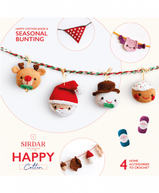 Sirdar Happy Cotton Amigurumi Seasonal Bunting - Book 8