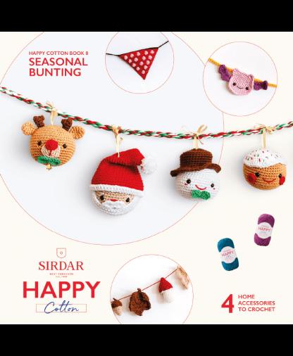 Sirdar Happy Cotton Amigurumi Seasonal Bunting - Book 8