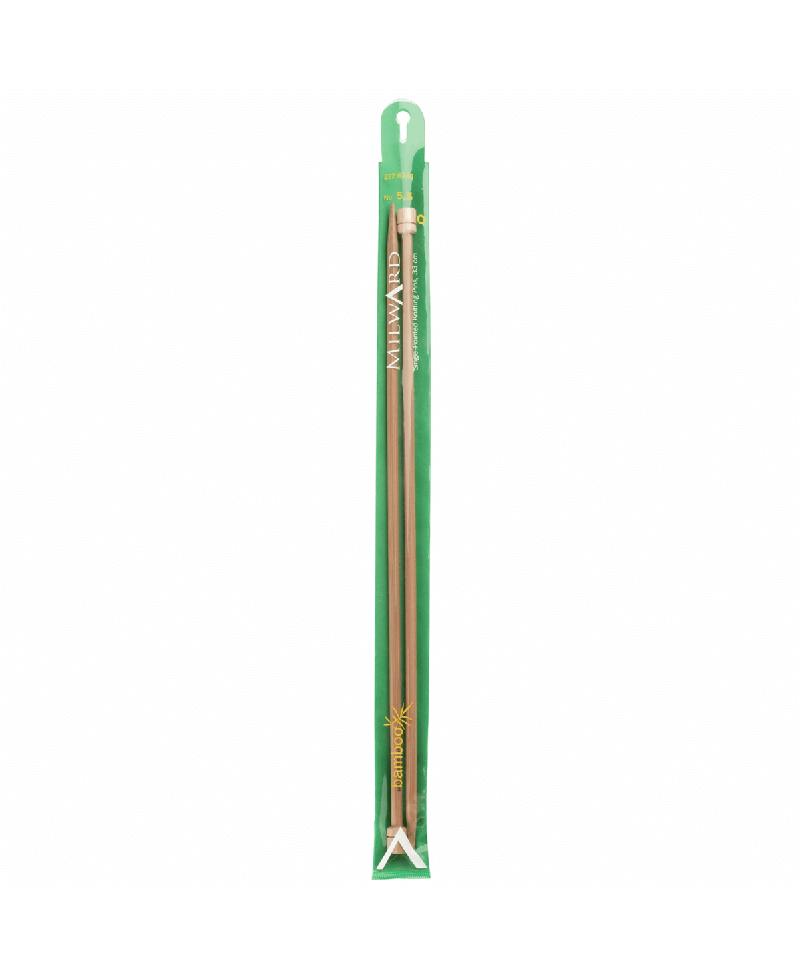 Milward Bamboo Single Point Knitting Needles 33cm 5 5mm 2226310