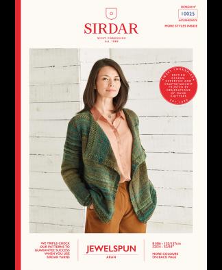 Sirdar 10025 Drape Cardigan in Sirdar Jewelspun