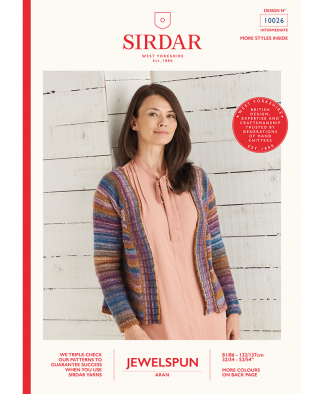 Sirdar 10026 Top Down Cardigan in Sirdar Jewelspun