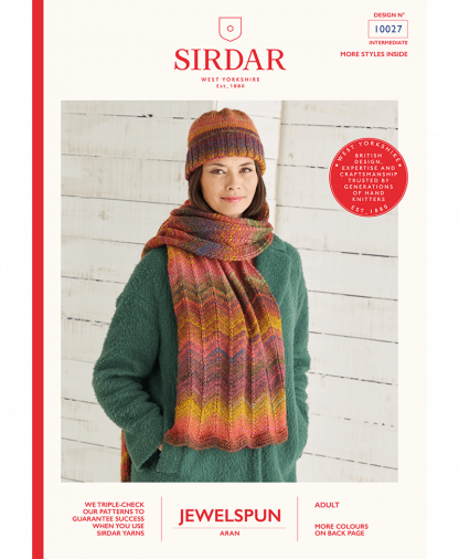 Sirdar 10027 Hat and Scarf in Sirdar Jewelspun