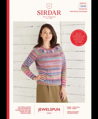 Sirdar 10028 Top Down Sweater in Sirdar Jewelspun