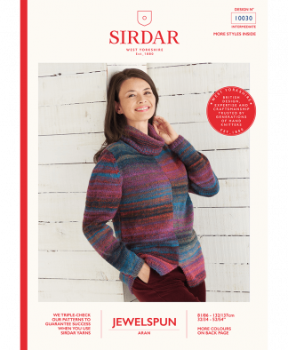 Sirdar 10030 Two Tone Sweater in Sirdar Jewelspun