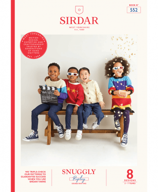 Sirdar 552 Movie Night in Snuggly Replay Pattern Book